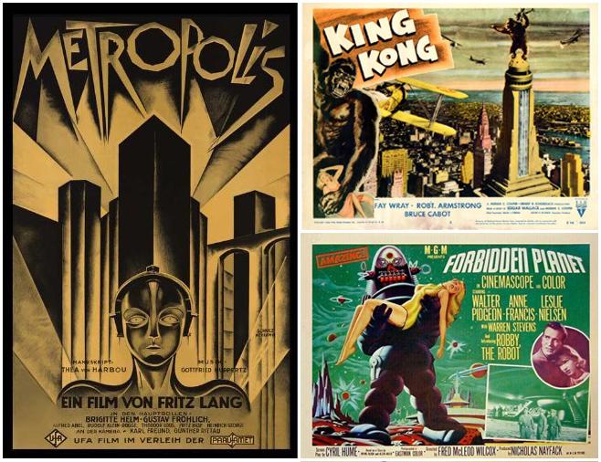 Amazing retro sci-fi movie posters