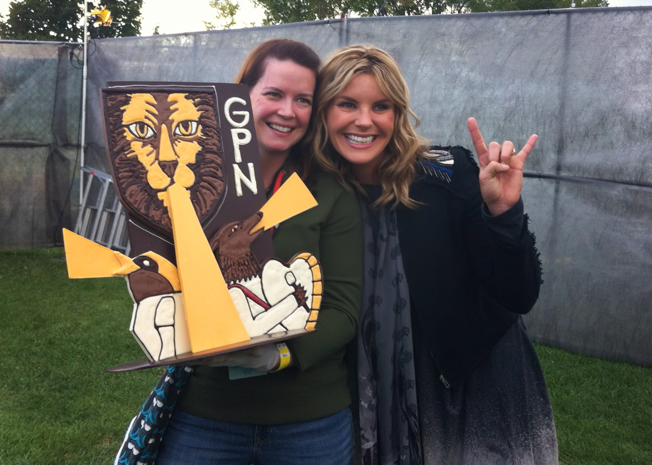 Grand Point North chocolate sculpture for Grace Potter
