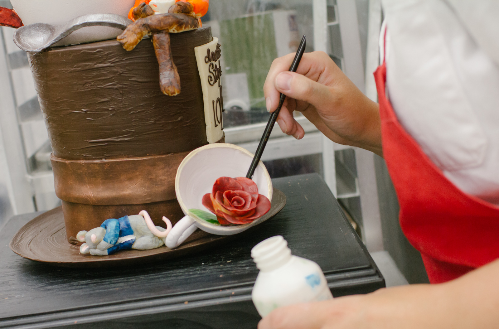 """Painting the (chocolate) roses red"""