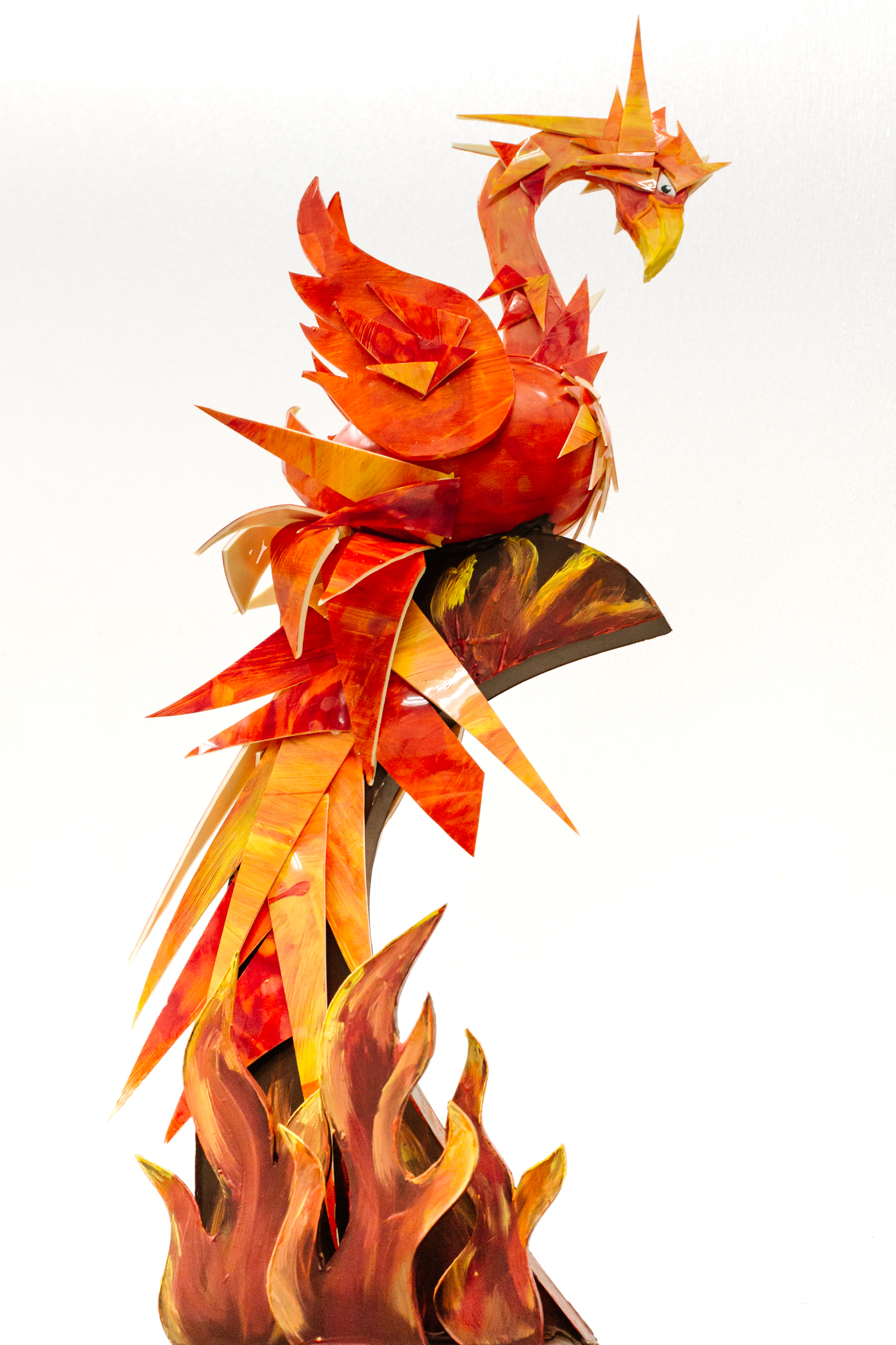Phoenix made out of 100% chocolate