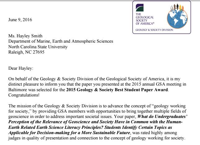 Research Presented at Geological Society of America Conference, Denver, 2013 -   Link to the GSA Website to download the presentation