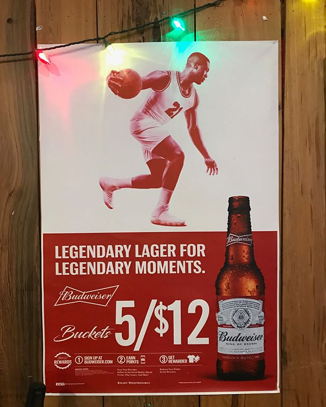New work spotted in a Florida dive bar.  Bottoms up!  Thank you @budweiser @chrisstanfordinc. #production #print #advertising #jackstudios #nyc #budweiser #kingofbeers #michaeljordan #ltwoproductions