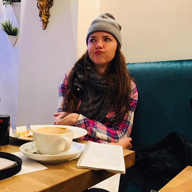 More estimates or more bacon.  5am decisions in Amsterdam. 🤔💭🥓. Photo @matt_conant #amsterdam #layover #morecoffee #perdiem #ltwoproductions