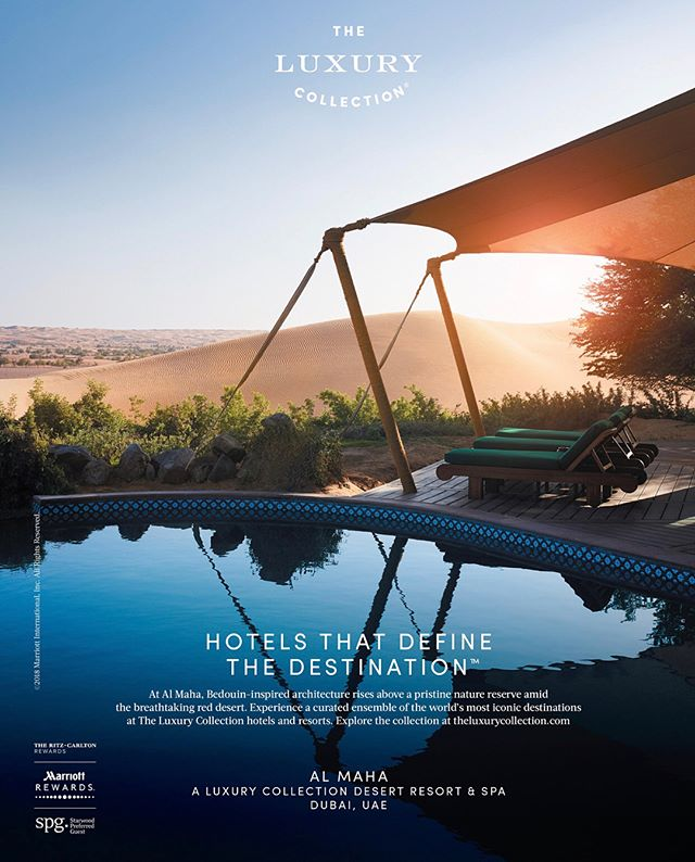 New Work Wednesday.  Hot off the press!  Hotels that Define the Destination.  Thank you @theluxurycollection for the luxurious desert experience.  #production #print #advertising #onlocation #ltwoproductions