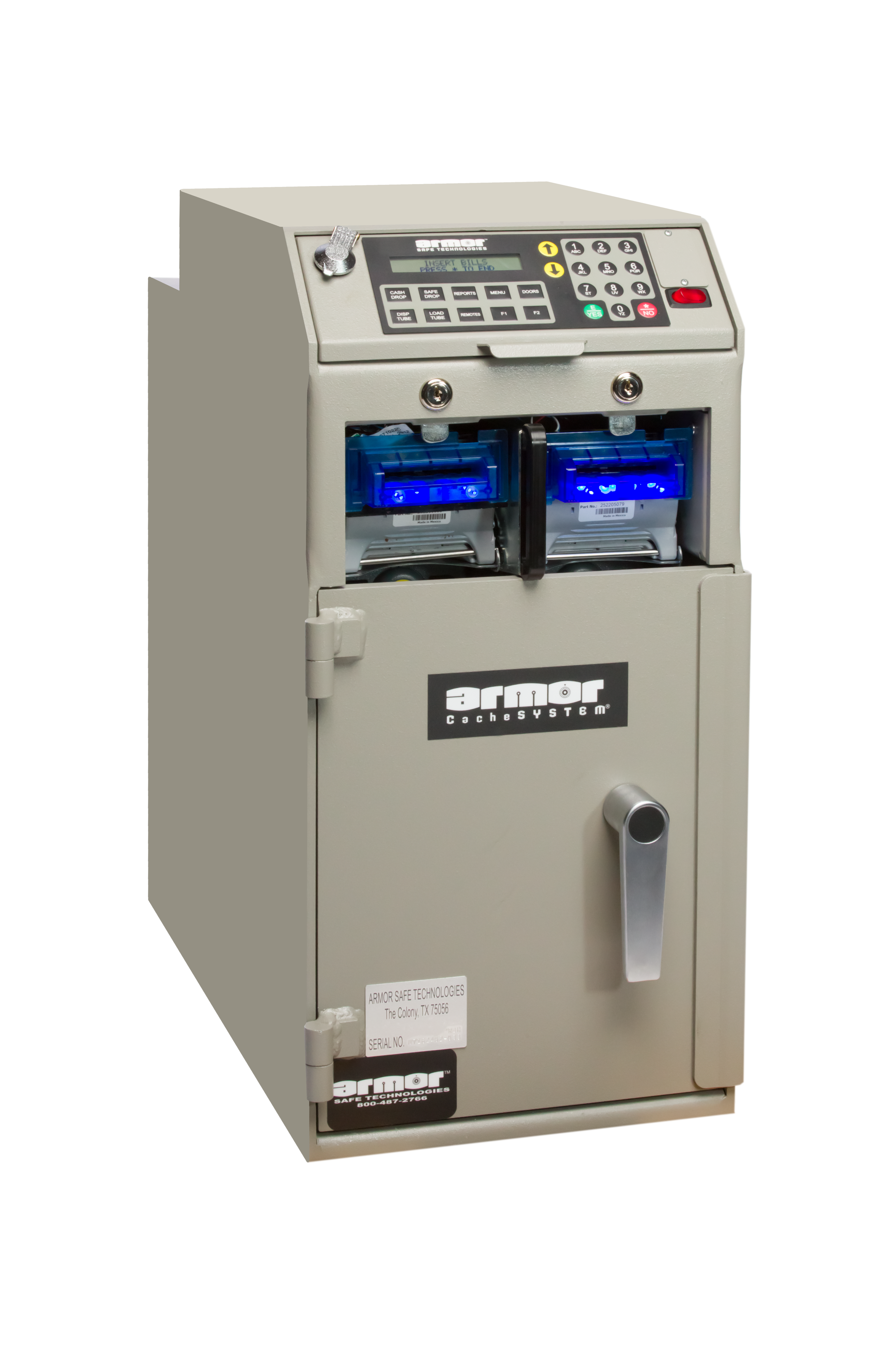 CacheSYSTEM 2400RBH   Shown equipped with  2 single-note bill validators