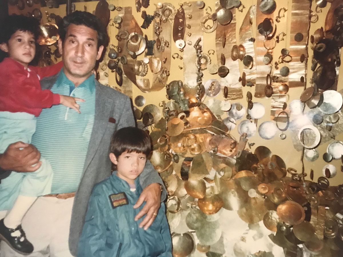 Gold Museum, Bogotá, Colombia -  me, my dad and my cousin Andres. 1980's.