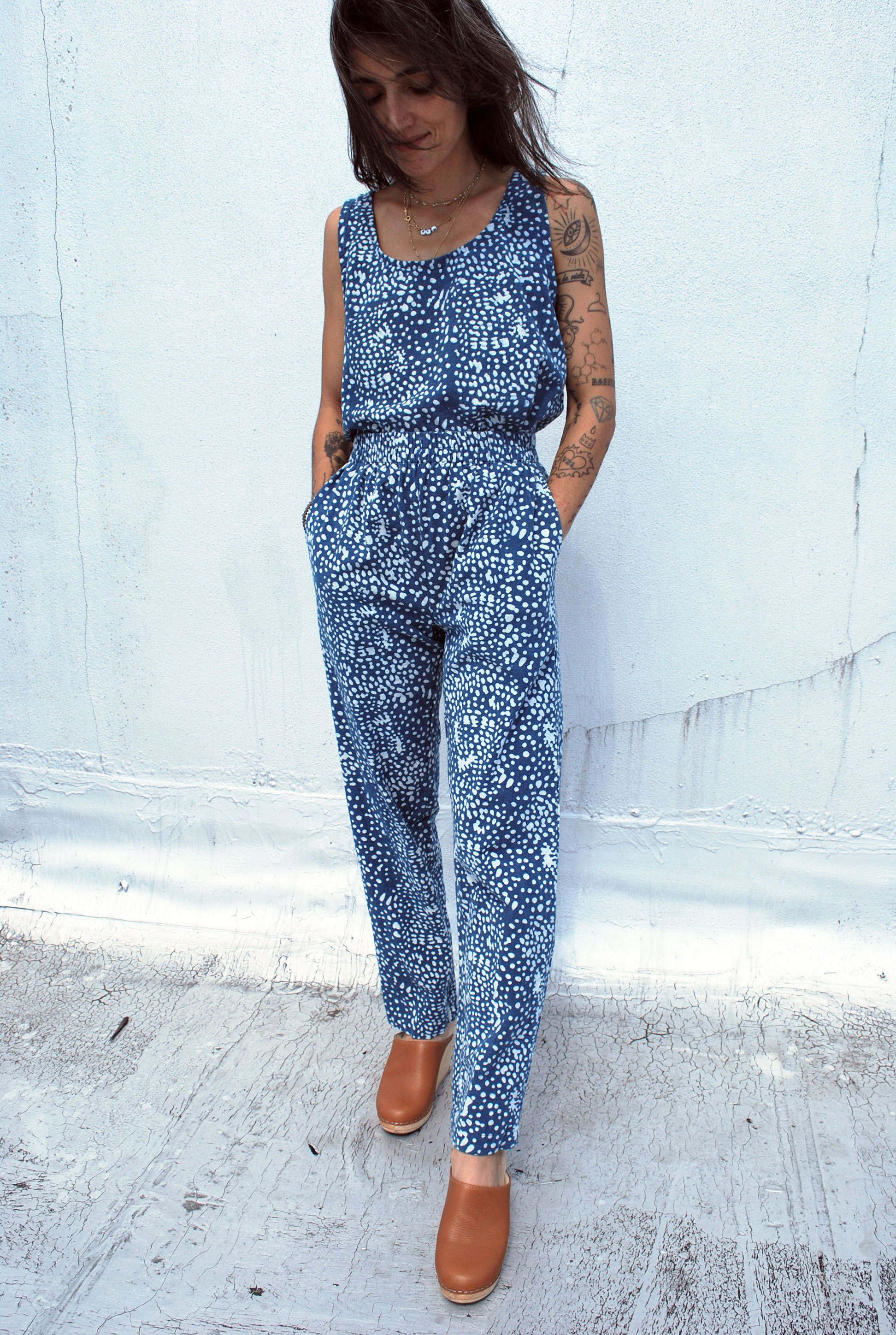 Tank Top and Lounger Pants in Splash