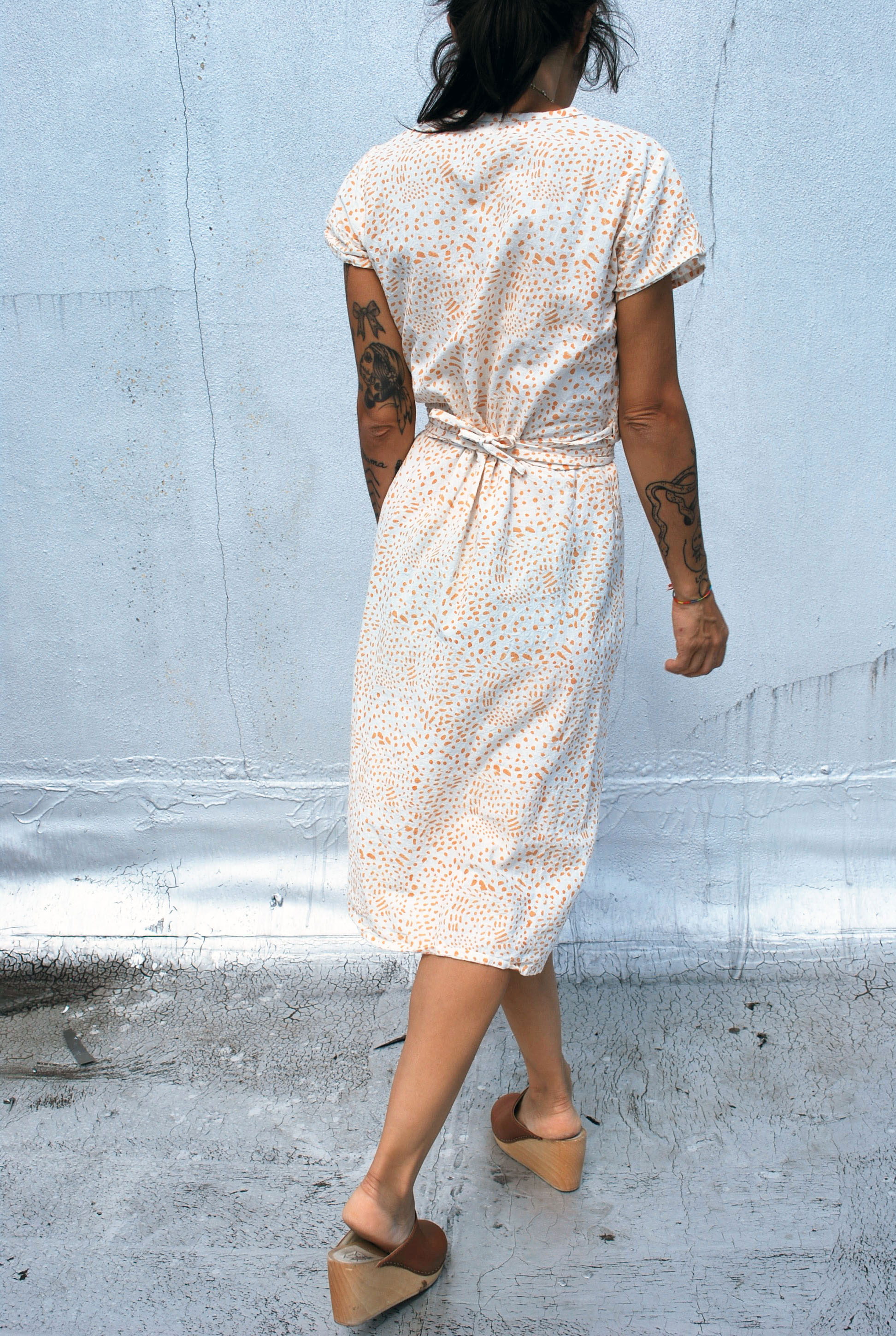 Ode Dress in Painted Coral