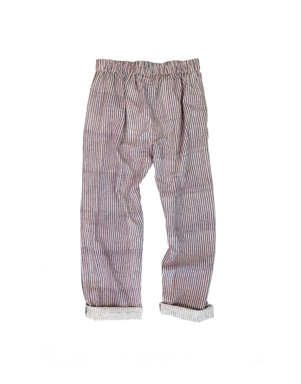Lounger Pants in Blocked Stripe