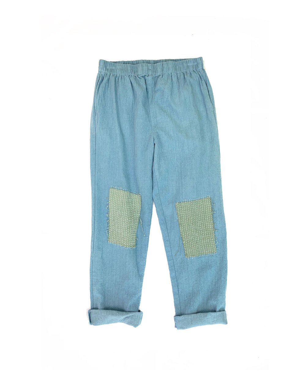 Lounger Pants in Patched Indigo