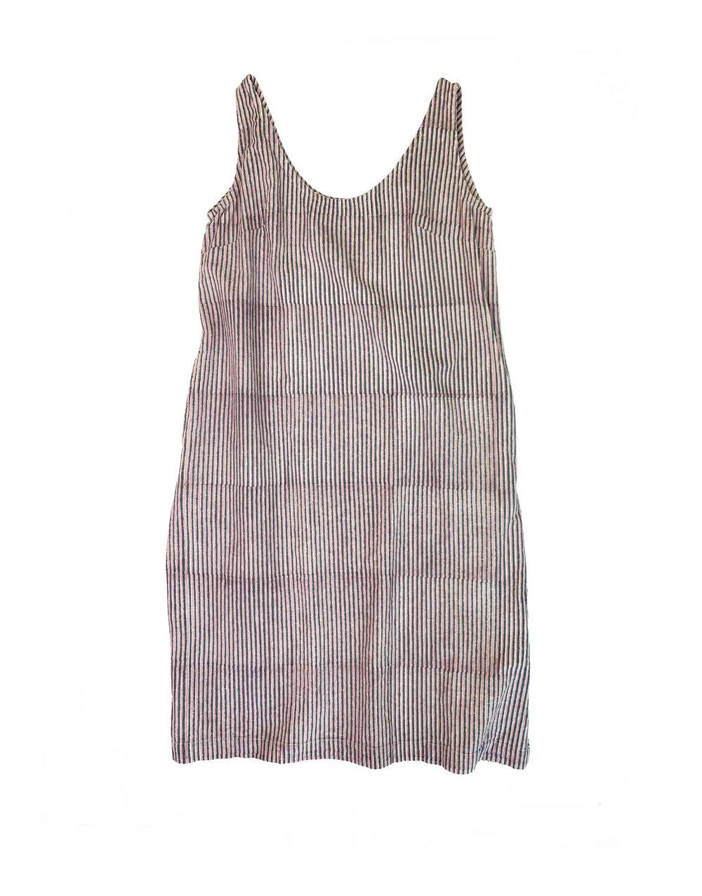 Maxi Dress in Block Stripe