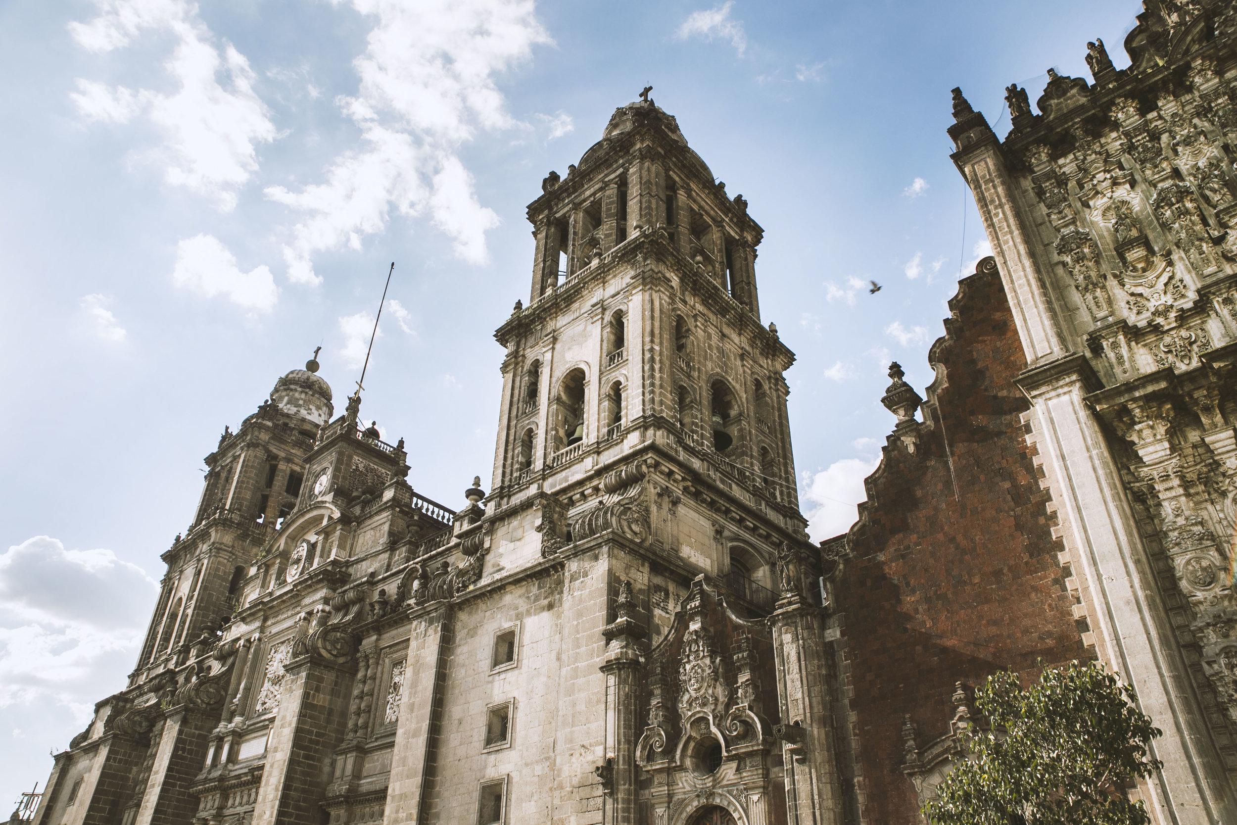 Metropolitan Cathedral, Zócalo, Mexico City.