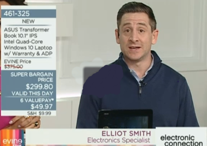 Elliot on-air, representing Asus.