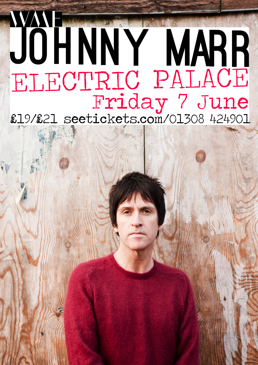 Johnny Marr show poster