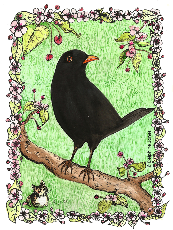 Eliza's Book of Whimsy - 'The Blackbird'