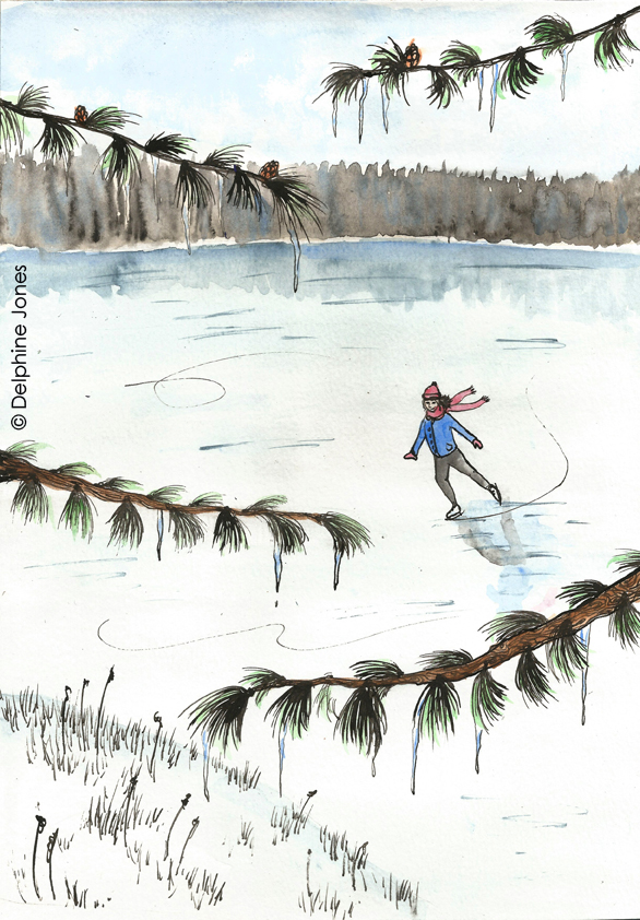 Eliza's Book of Whimsy - 'The Ice Skater'