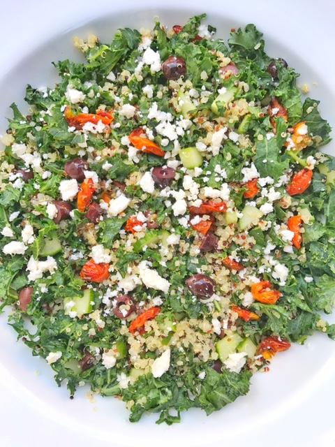 Mediterranean Kale and Quinoa Salad