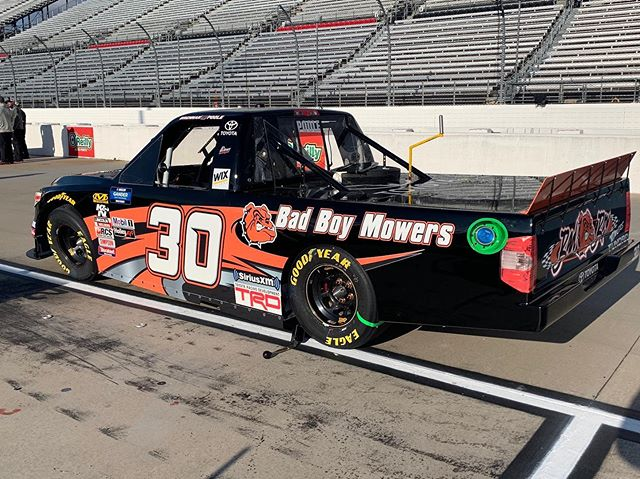 Can't wait to get to @bmsupdates Thursday with @badboymowers and @inspectrathermal ! I've always enjoyed racing there.
