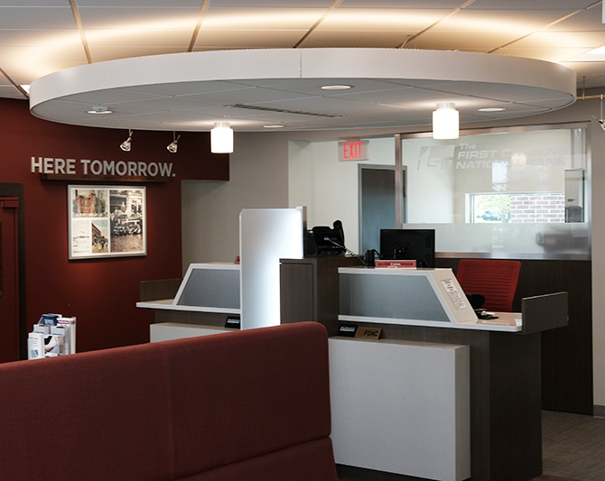 www.rcmarchitects.com First Citizens National Bank Carey Ohio Interior 4
