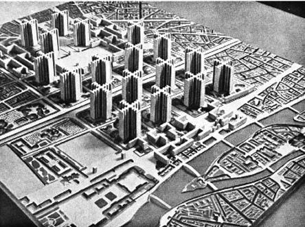 Le Corbusier's idea for a new plan of Paris