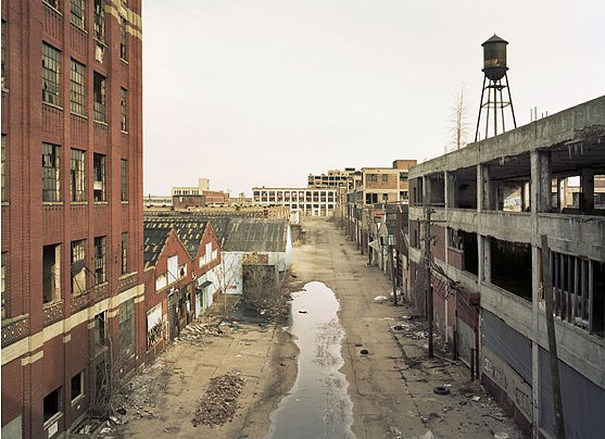 Abandoned buildings in Detroit