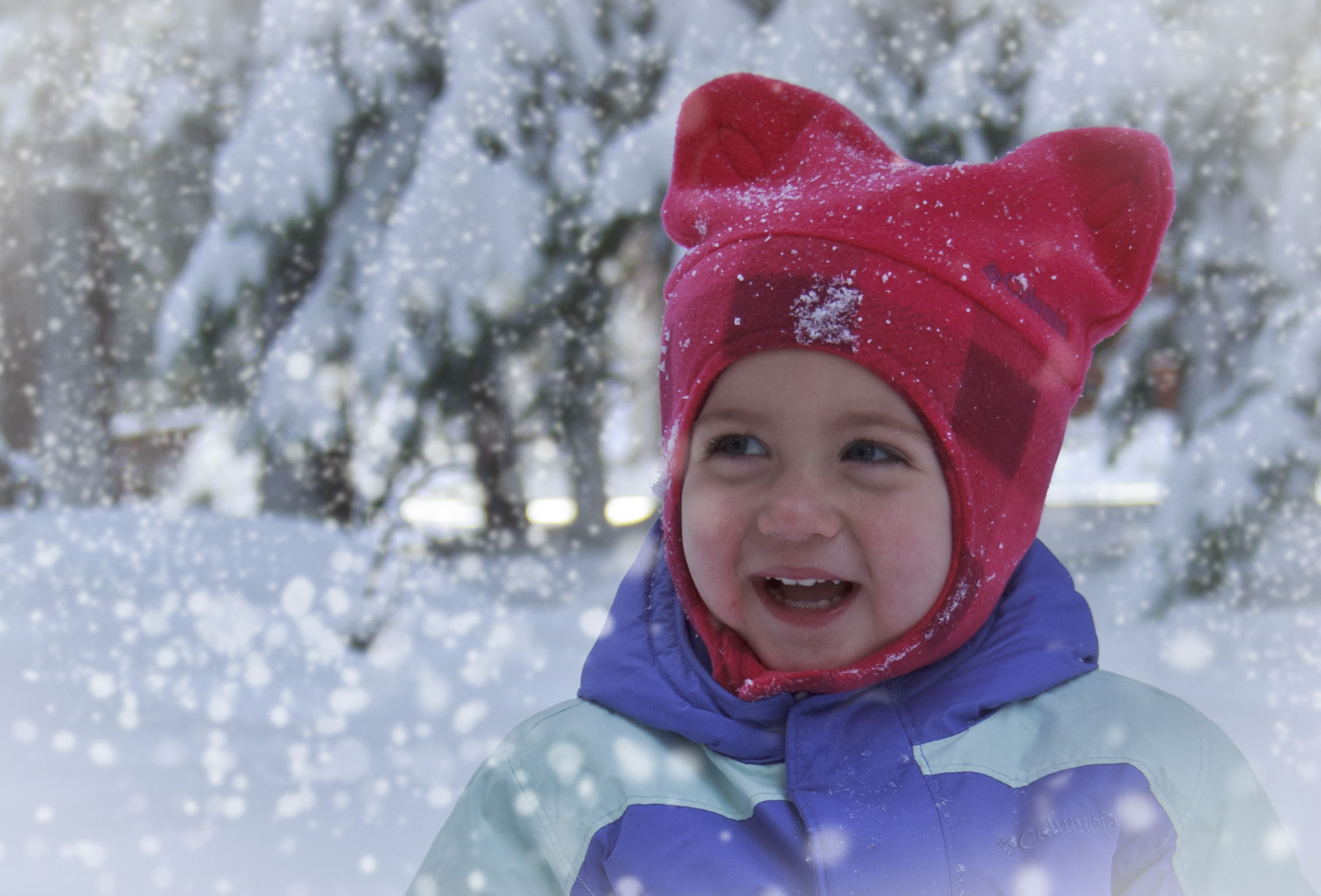 Baby Kylie in the Snow