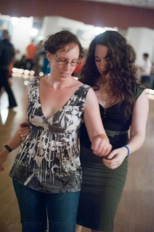 Me (left) doing one of my favorite hobbies, blues dancing. (Photo courtesy of Drew Tronvig.)