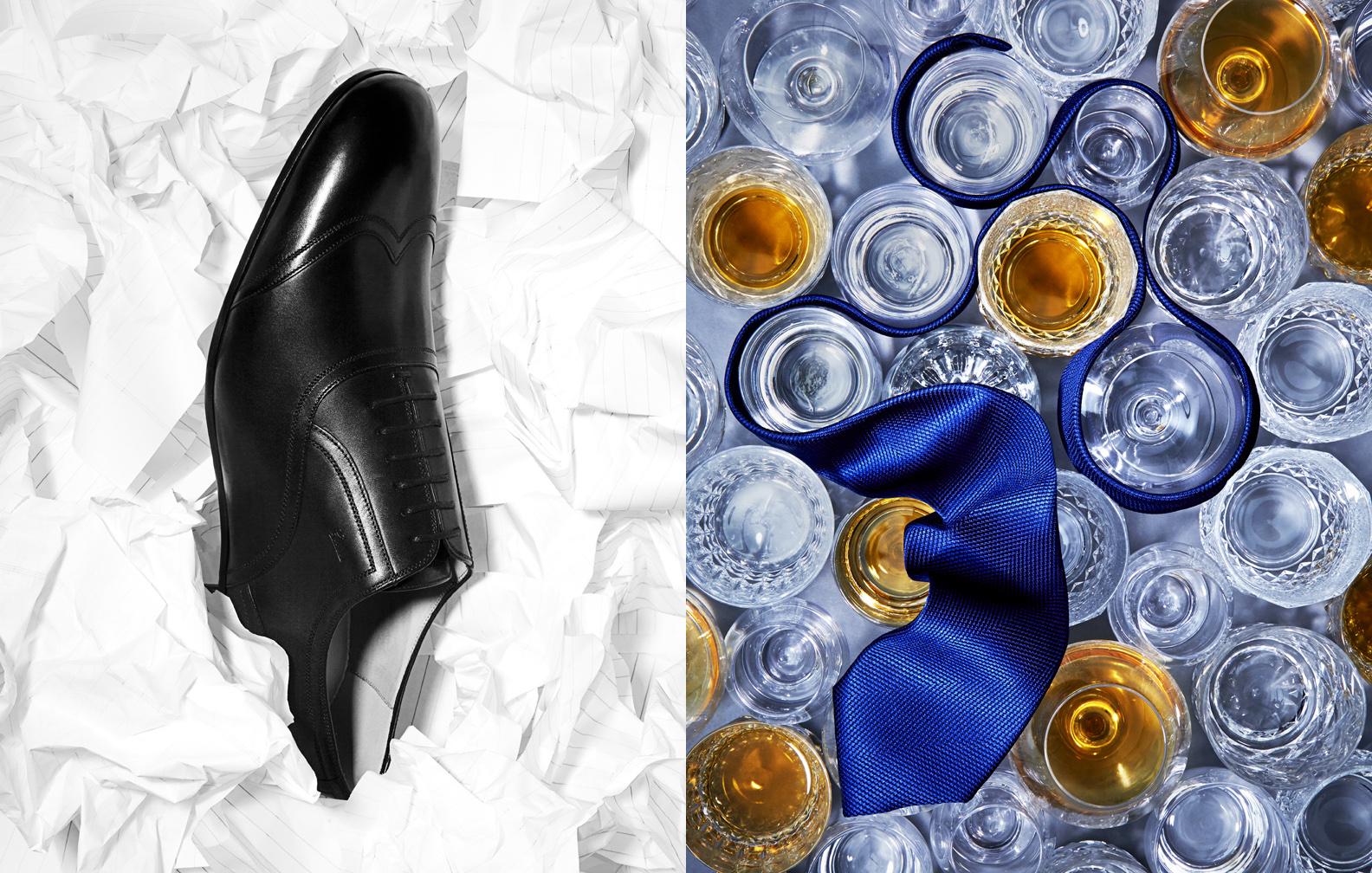 Prada Shoe & Gucci Tie Still Life