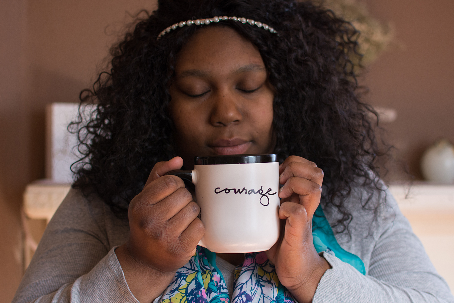 courage coffee cup