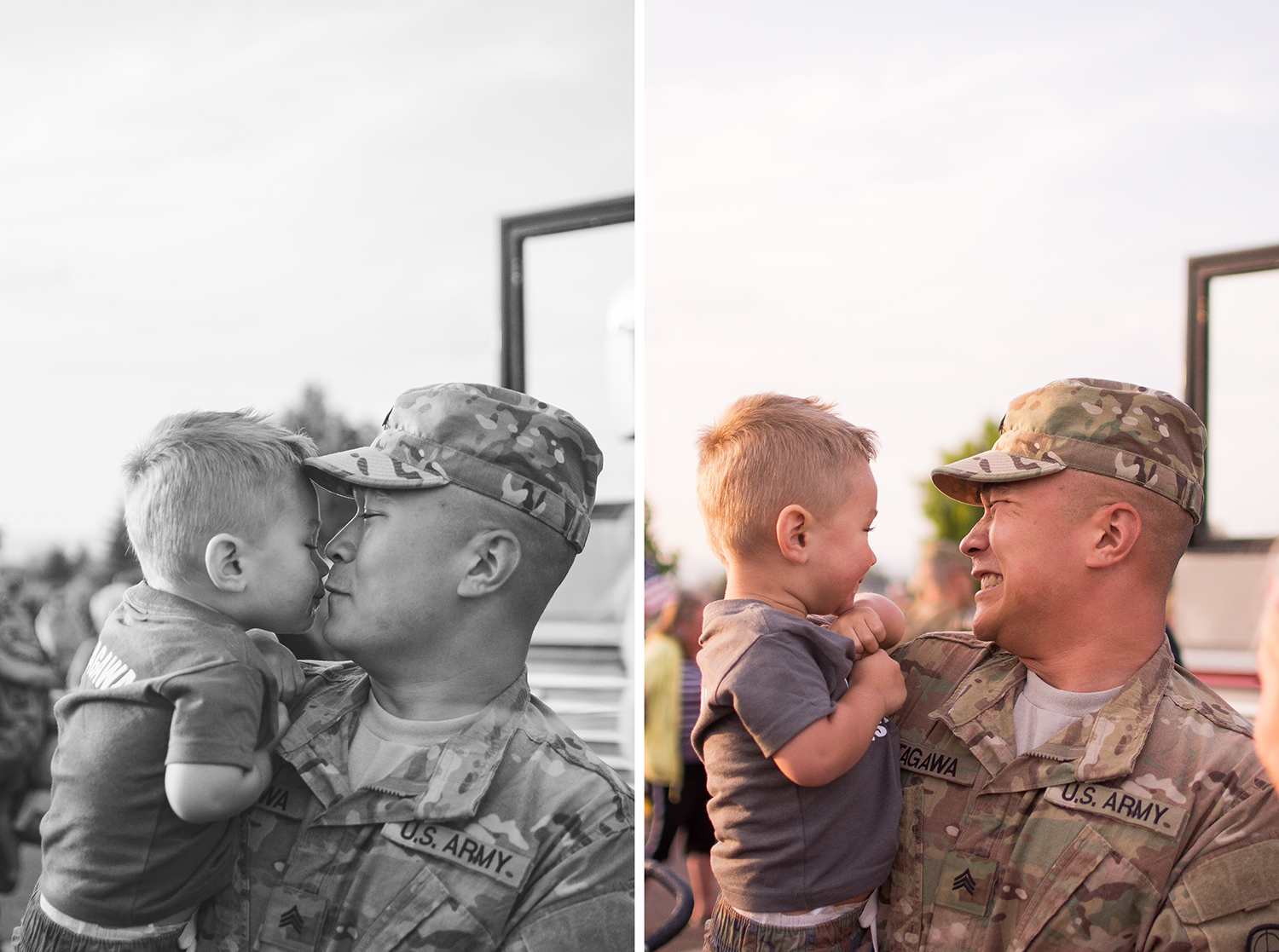 Son and Soldier reunite