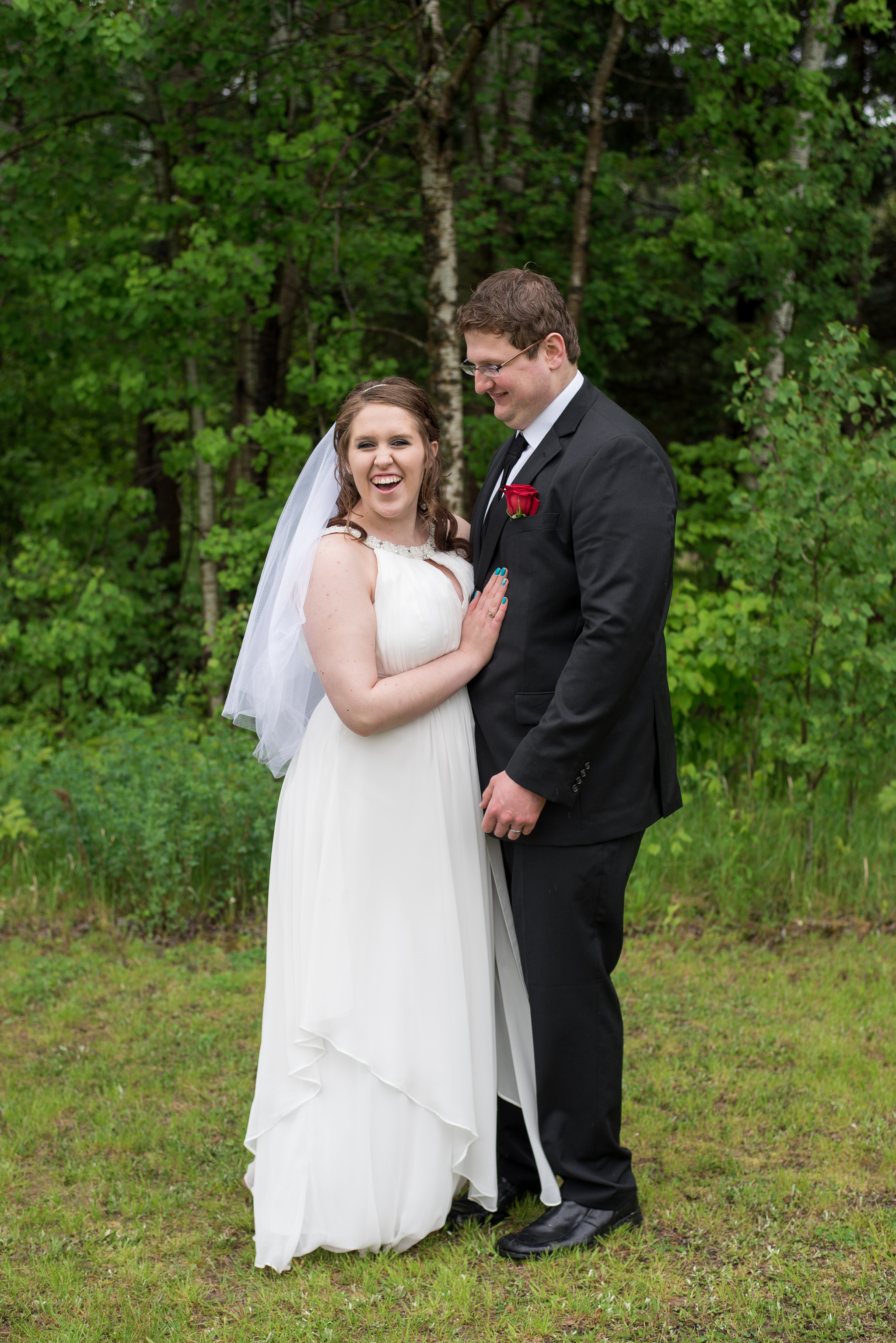 duluth mn wedding in the woods