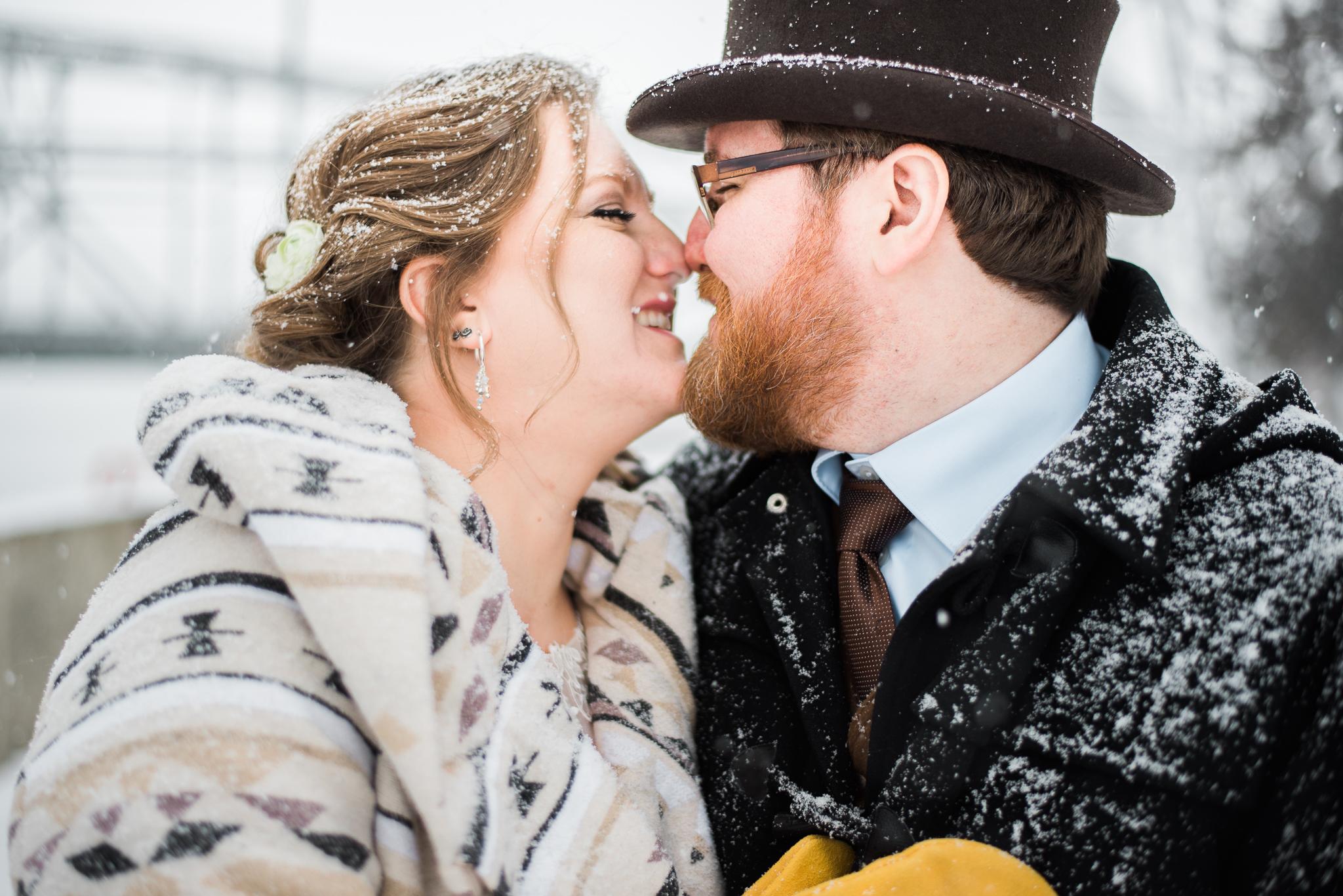 winter wedding in duluth