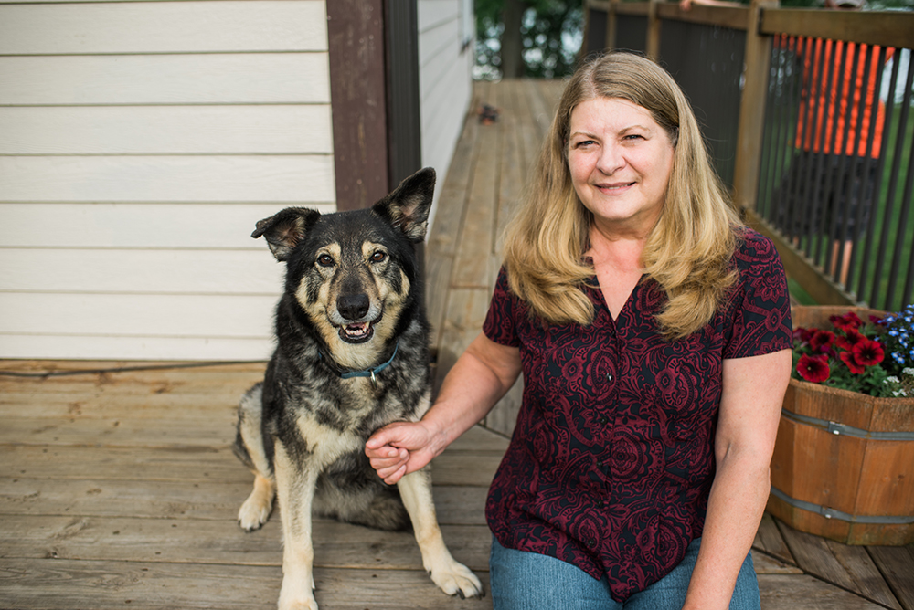 grandma and her dog