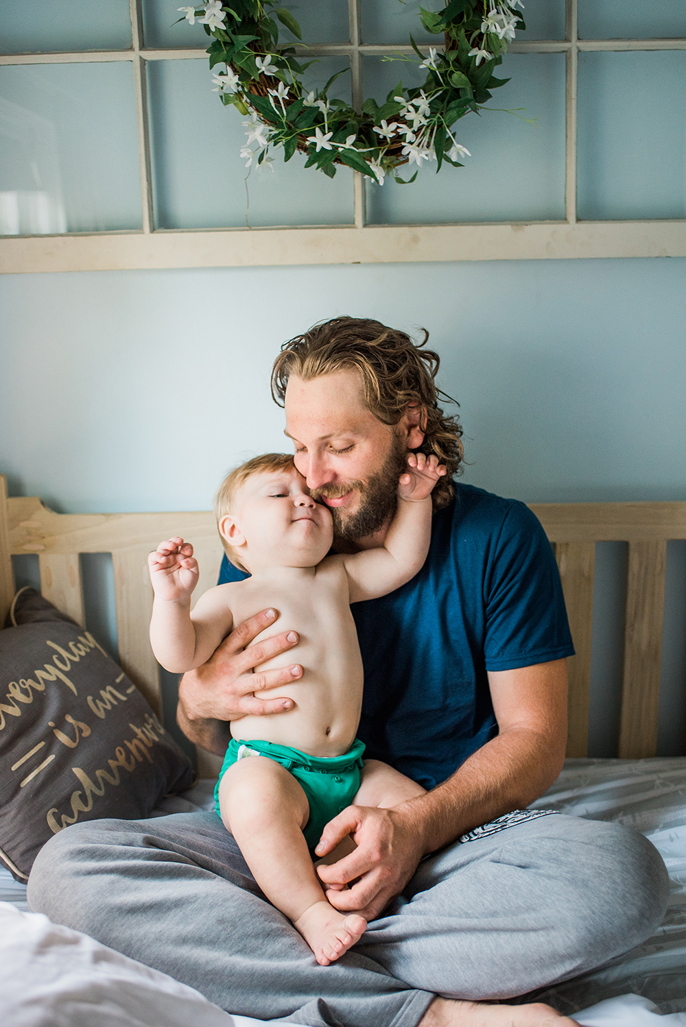 lifestyle dad with baby
