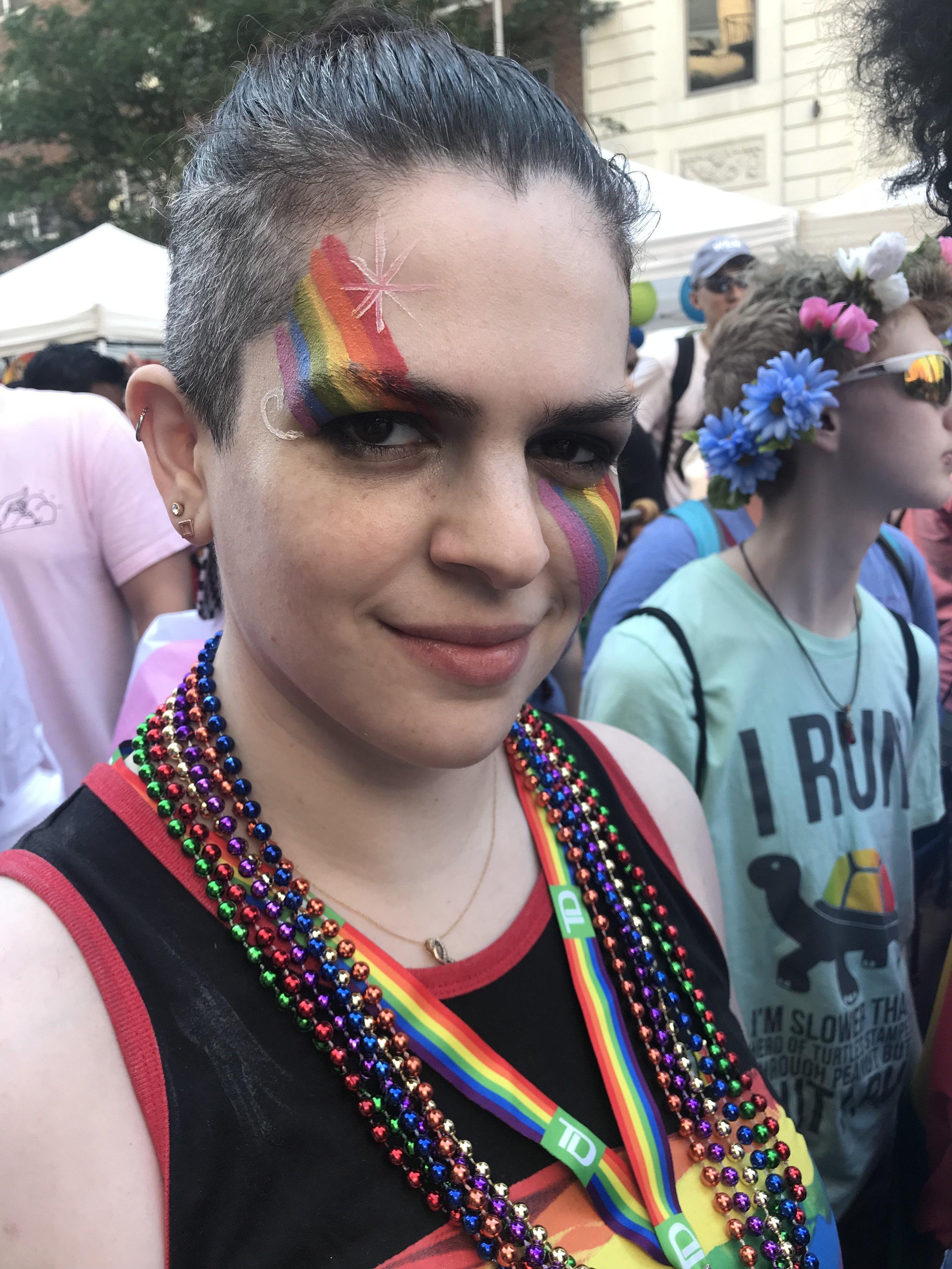 Caroline Kaplan at NYC World Pride in Manhattan — June 30, 2019