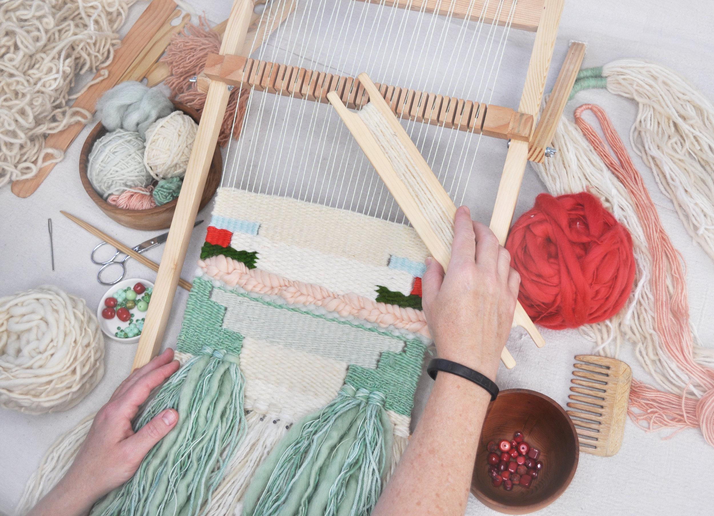 retreat weaving in process.jpg