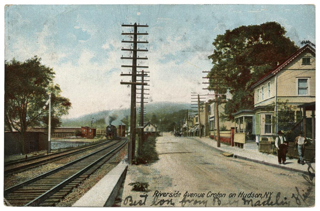 Riverside Avenue in the early 1900s.