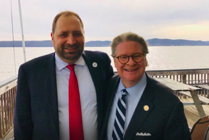 Croton Mayor Brian Pugh (left) and NY State Senator Pete Harckham (right).