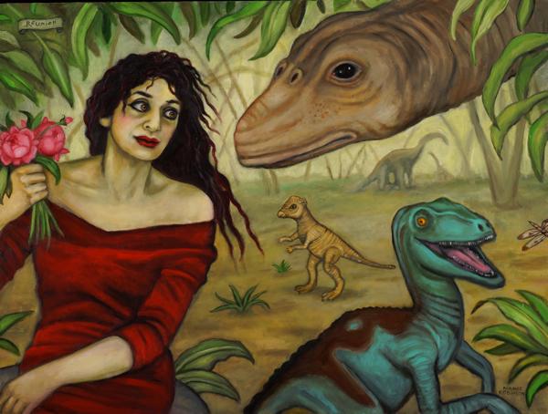 "Reunion  , 2014, oil on canvas, 30"" x 40"""
