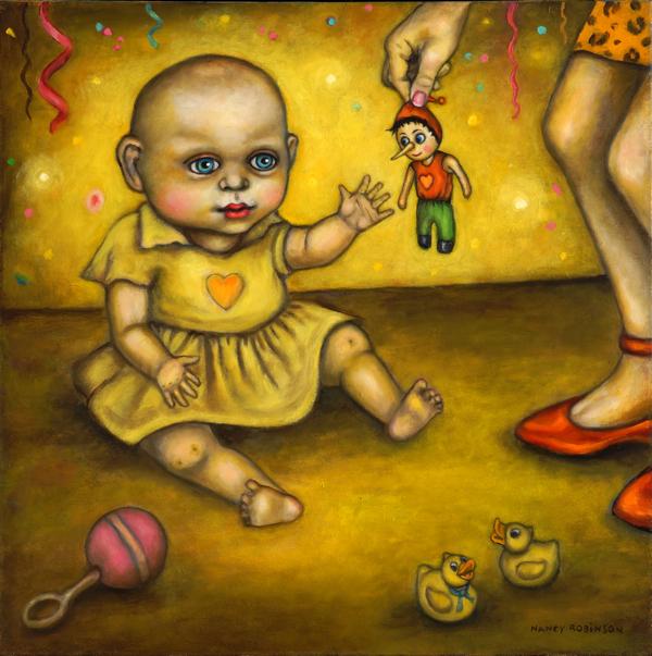 "Tabula Rasa  , 2016, oil on canvas, 24"" x 24"""