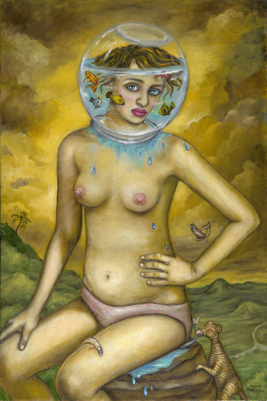"""The Exhibitionist  , 2009, oil on canvas, 36"""" x 24"""""""