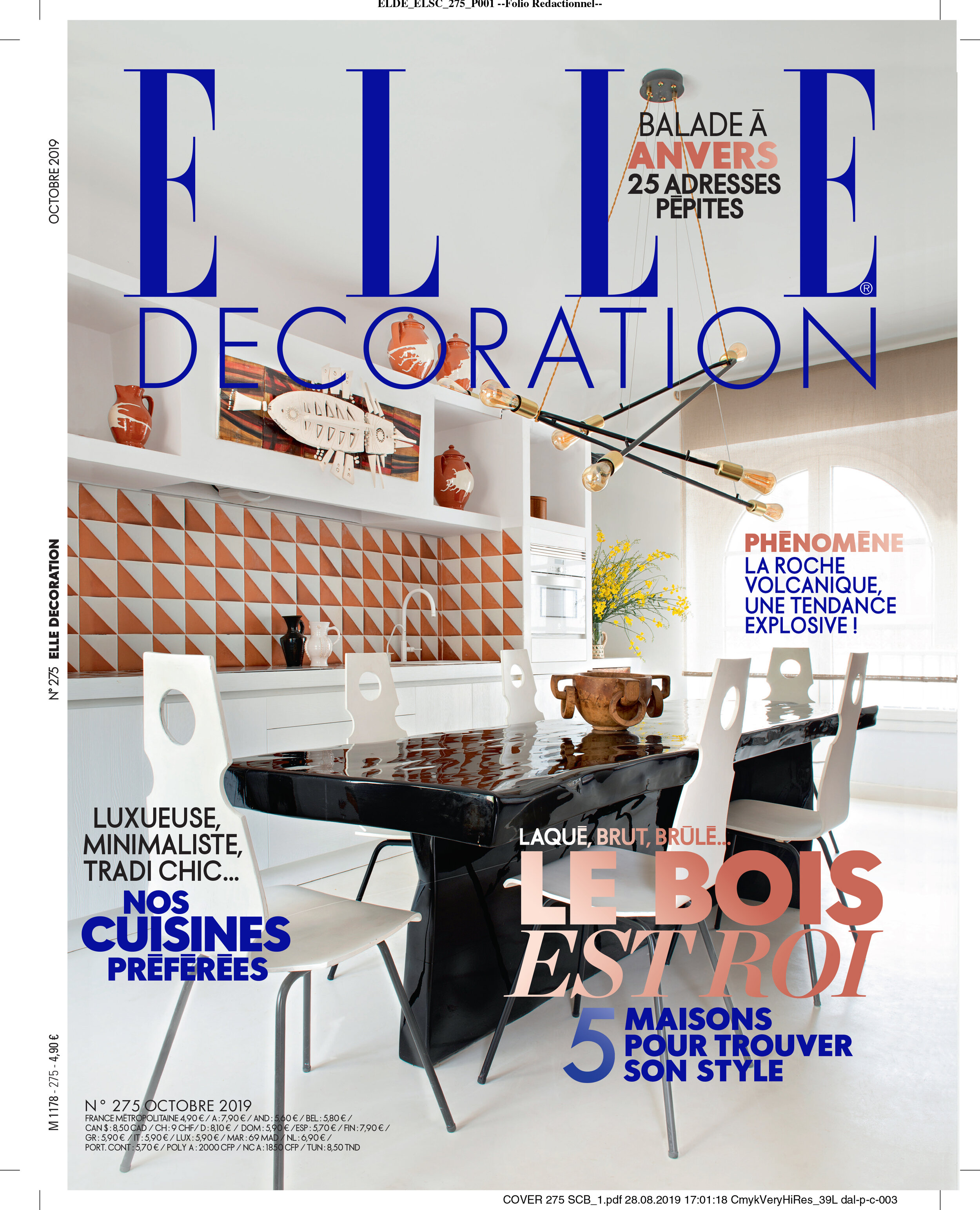 ELLE Deco France, October 20 — Peca