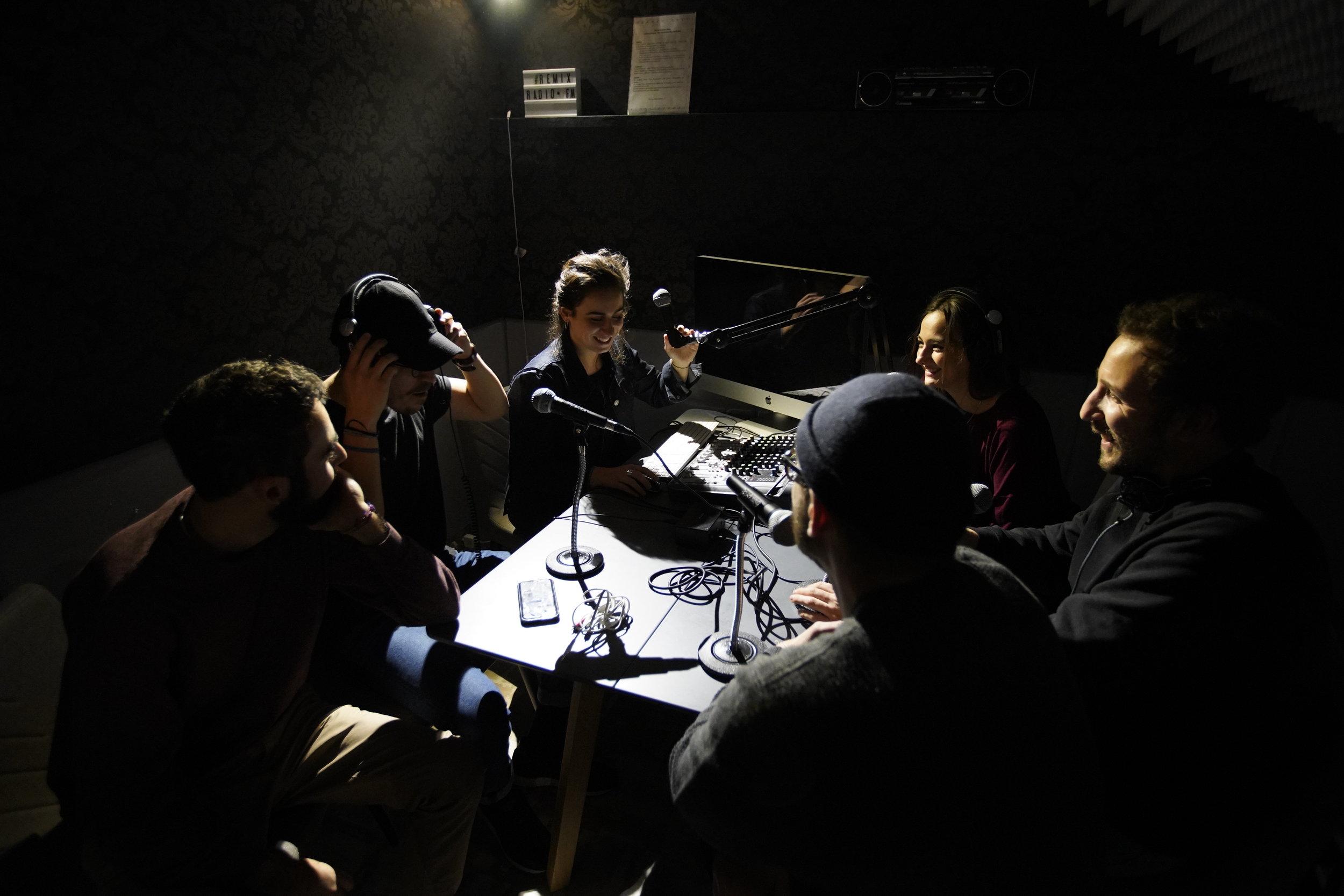 Le studio d'enregistrement, situé dans le REMIX du 16 rue de Bucarest, à deux pas de St Lazare.