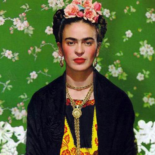 En logo de l'émission Les Indomptables, un portrait de Frida Kahlo. Le premier épisode lui est consacré.