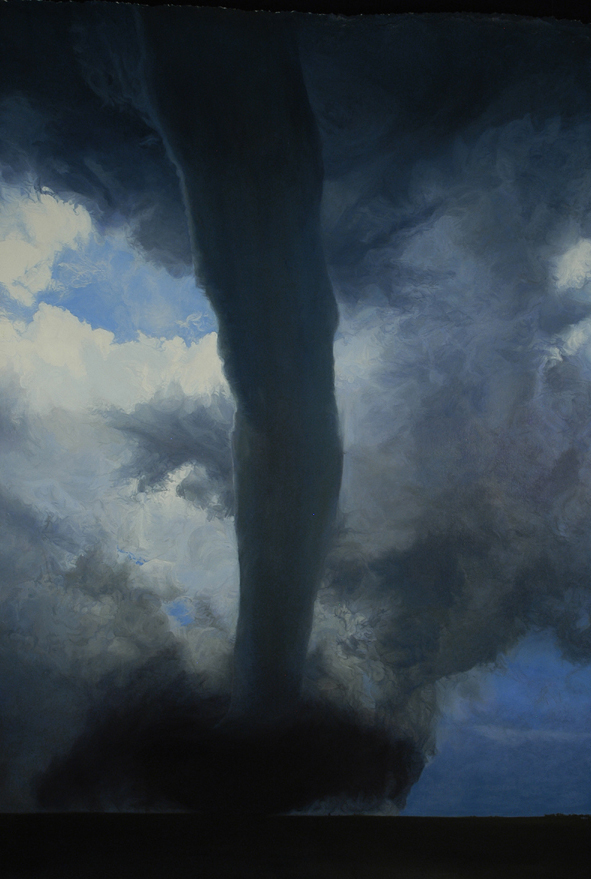 """The Dark Fantastic, 51""""x75"""", oil on paper, after Rhoden"""