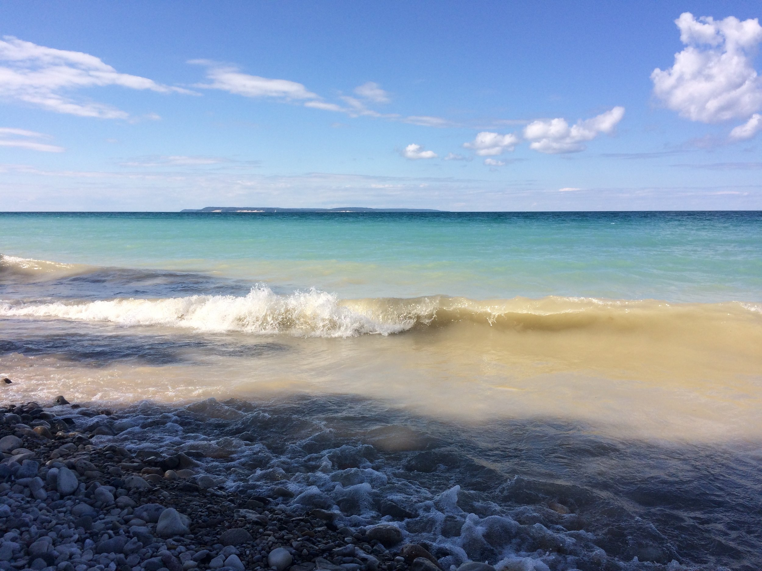 At Good Harbor Beach looking onto North Manitou Island