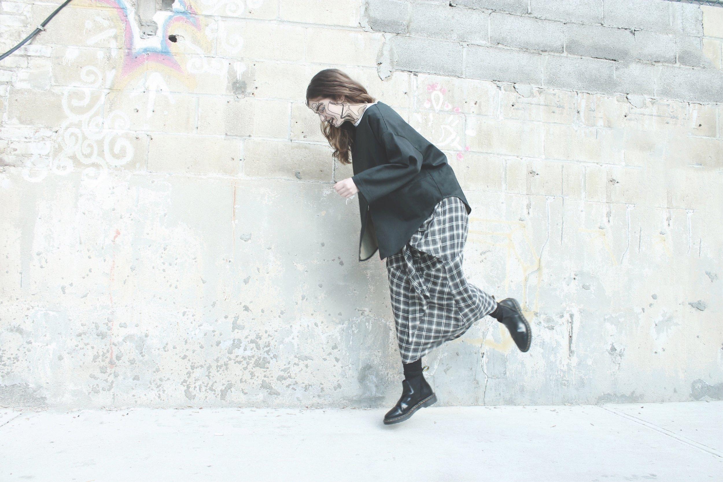 zip shirt  /  cave skirt
