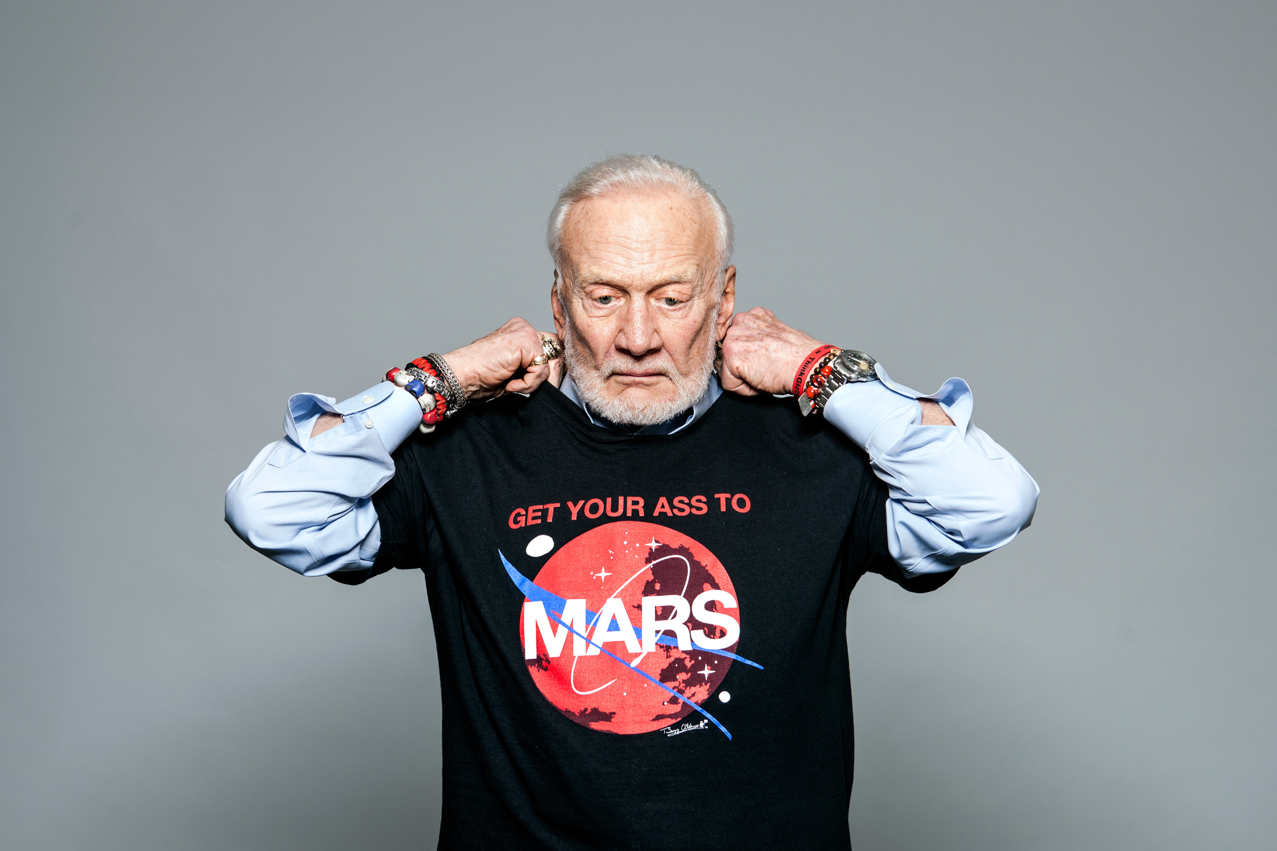 Buzz Aldrin for KERA/NPR.