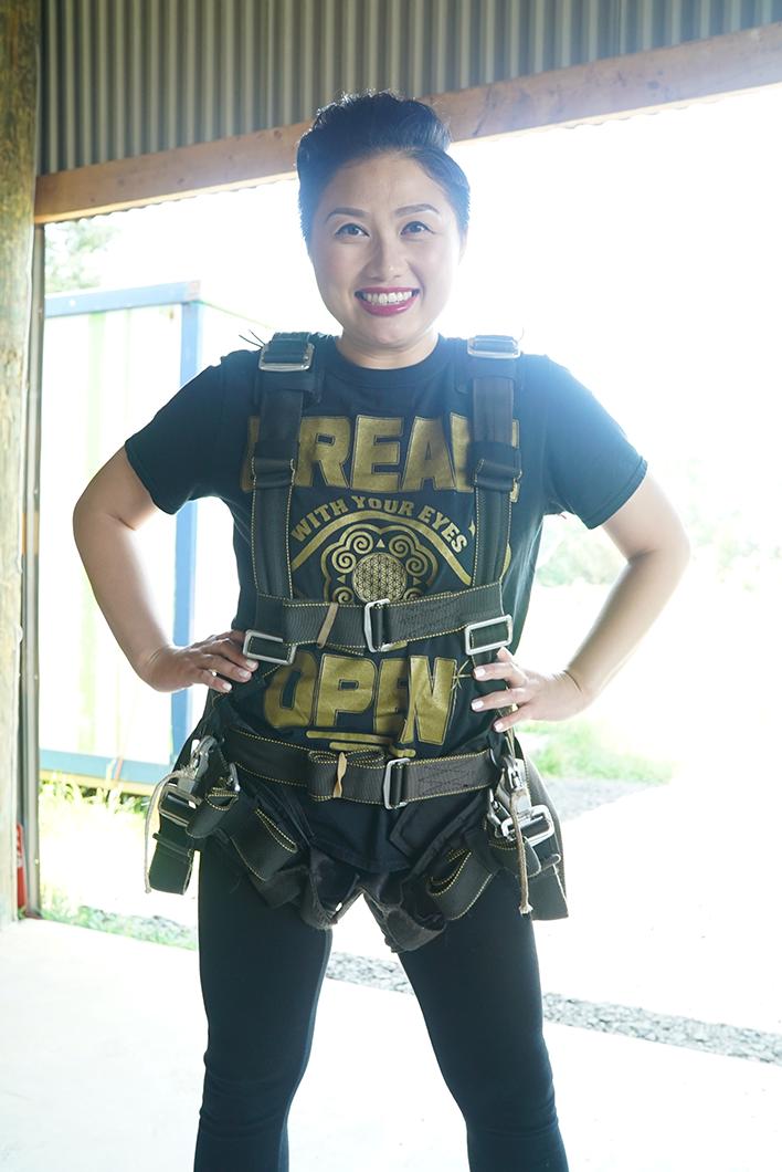 All harnessed up! Let's goooooo!