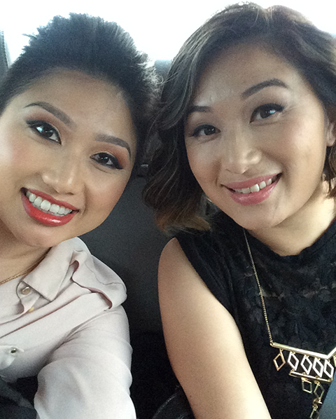 On our way to my J4 gig! (Hair & Make Up by Pa Kou)